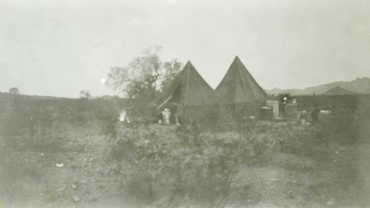 Camp near Wintersburg in December 1934 Photo