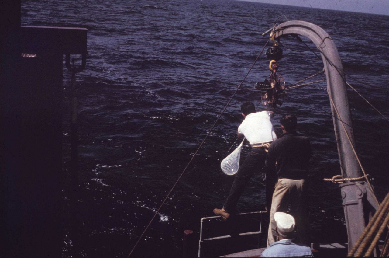 Buoy outfitted for measuring geomagnetic paramters. Photo