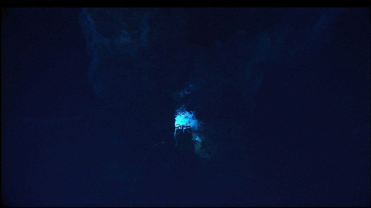 The Hercules ROV is being maneuvered in the vicinity of the Lost City vent field Photo
