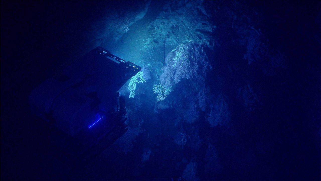 Deep Discoverer ROV as seen from Seirios. Photo