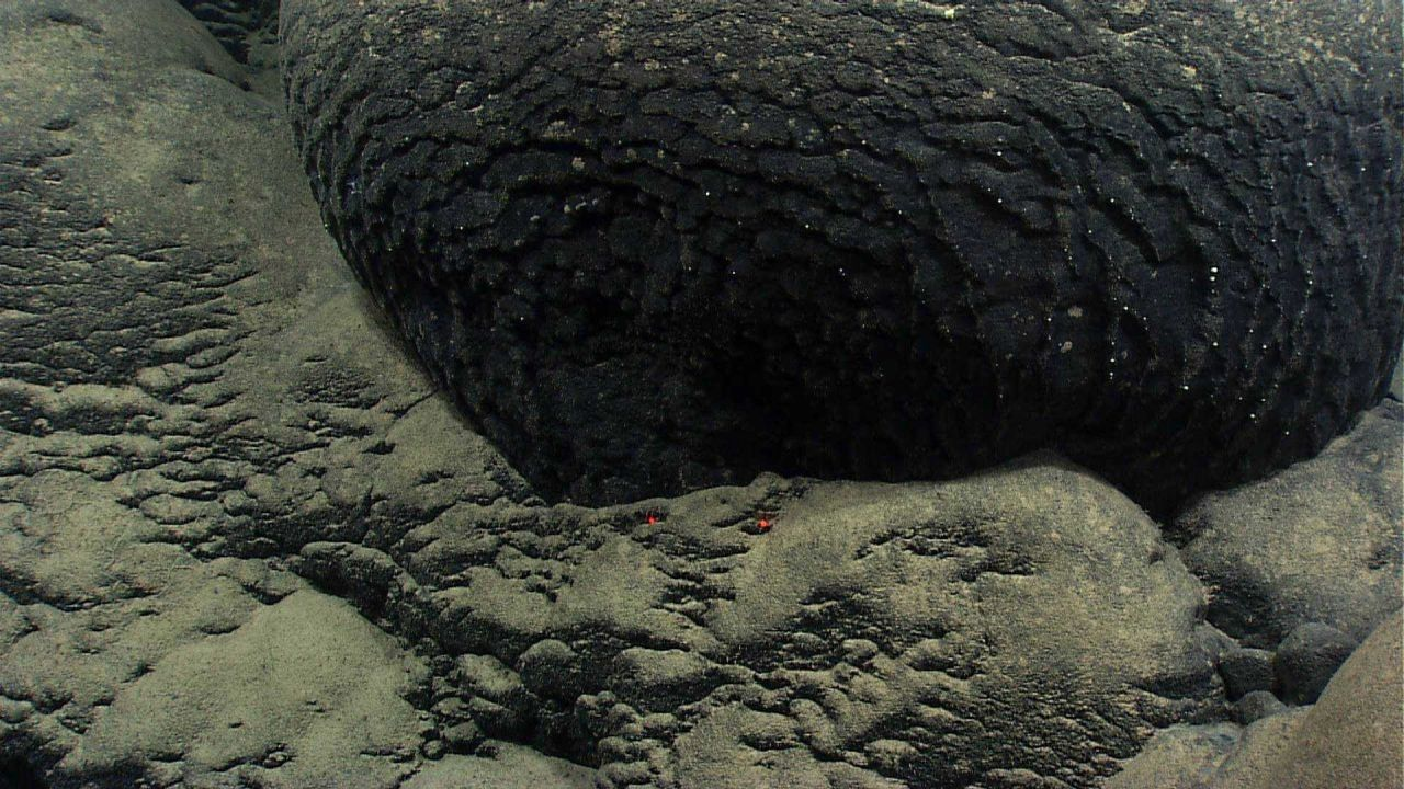 The base of a very old pillow lava Photo