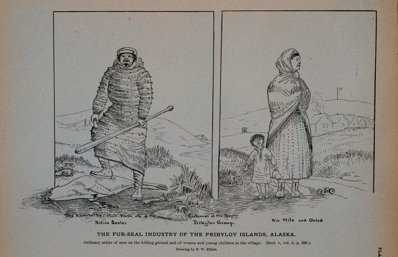 Ordinary attire of men on the killing ground And of women and young children in the village Drawing by H Photo