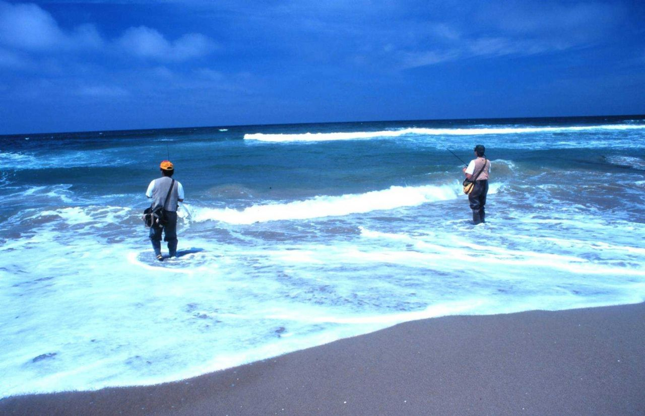 Sea and sky are the realm of the surf fisherman - near Vandenburg AFB Photo