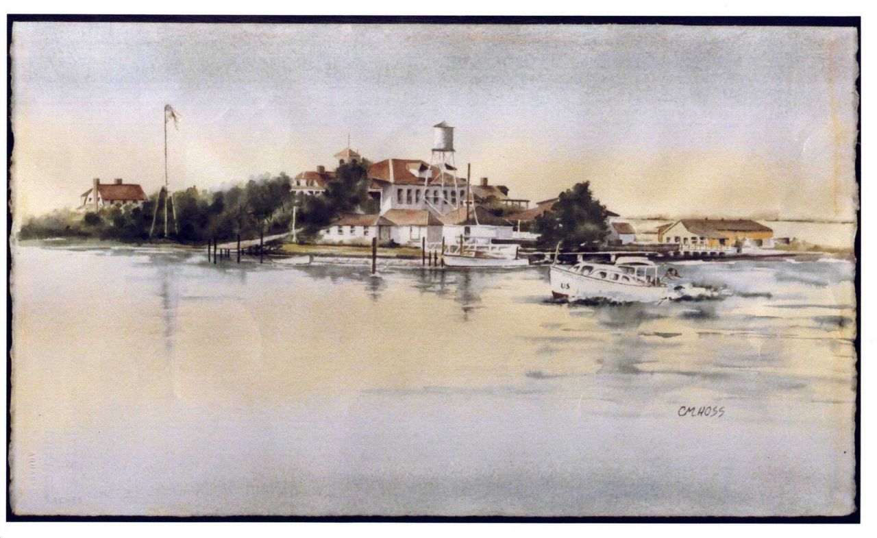 A print of the Beaufort Marine Laboratory as it looked in the 1930's Photo
