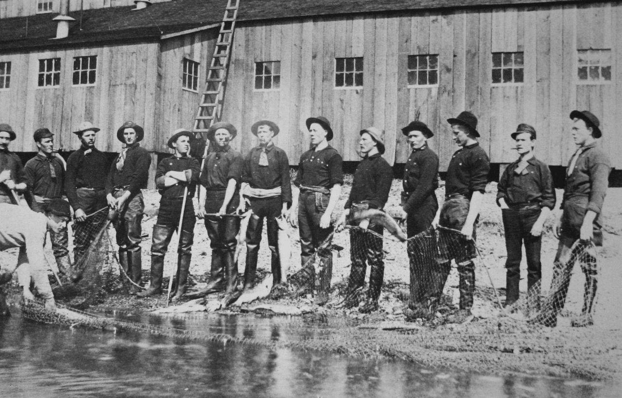 Fishermen, Karluk, 1889. Photo