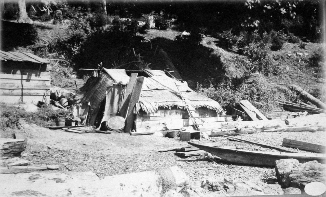 Indian hut, Departure Bay, B.C. Photo