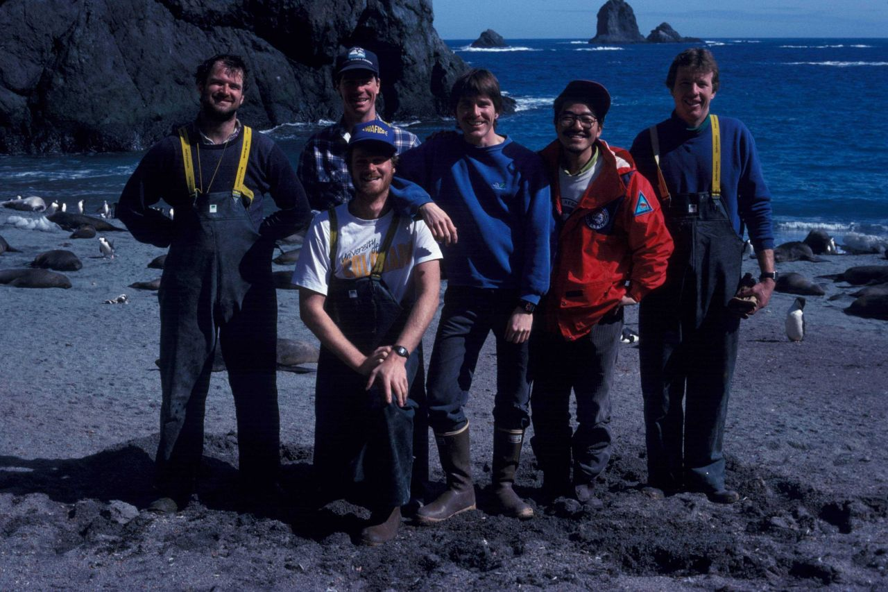 AMLR field biologists at the Seal Island research station. Photo