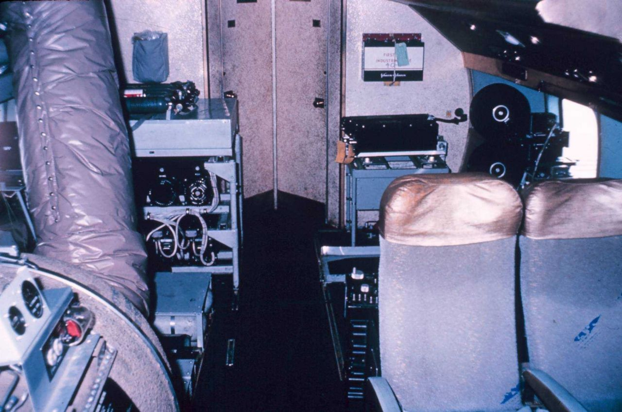 Various systems mounted in the rear of the DC-6. Photo