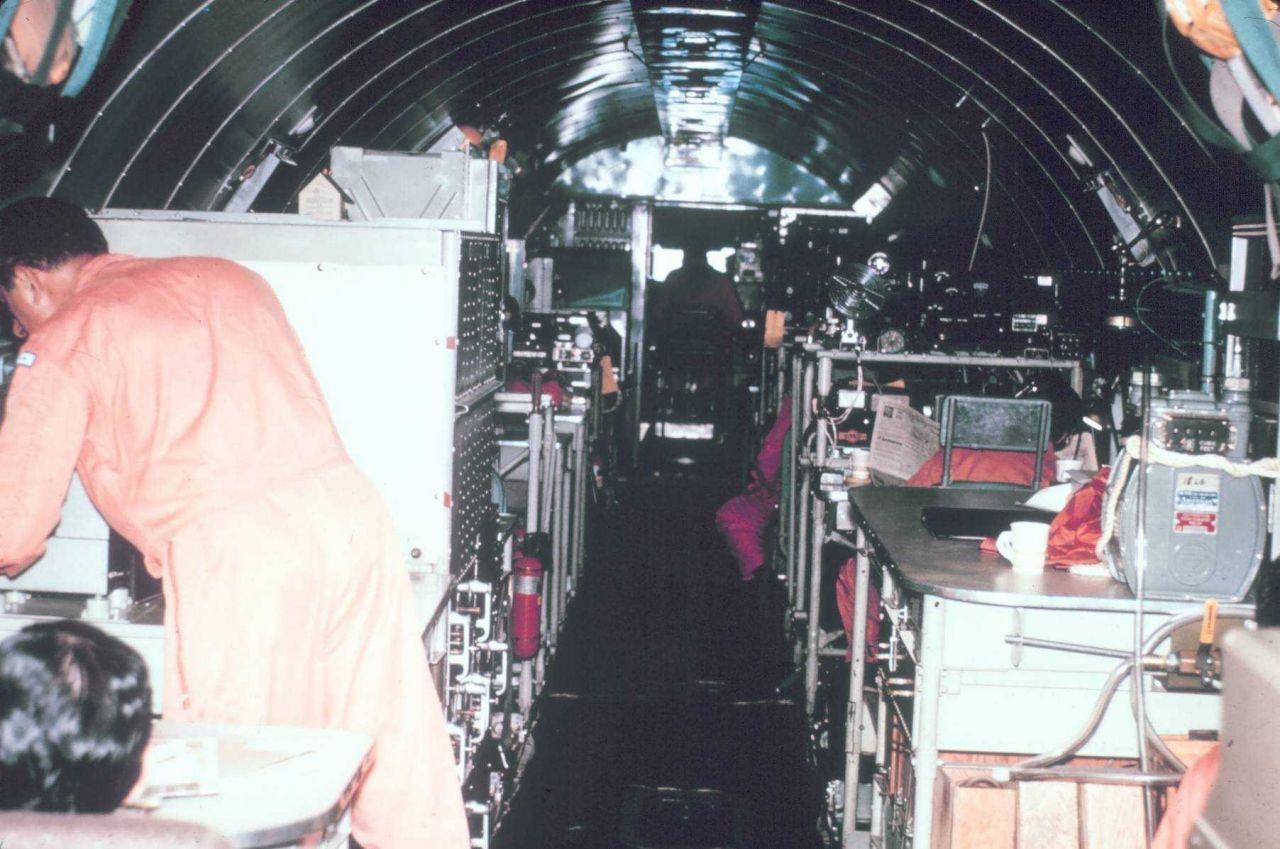 Interior of DC-6 looking forward. Photo