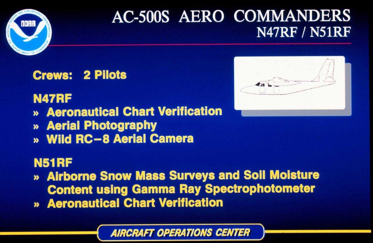 AC-500S Aero Commanders N47RF / N51RF Photo