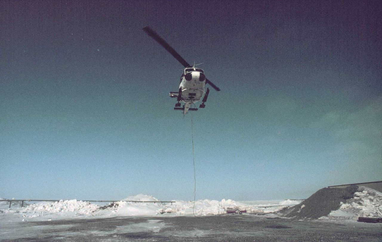 NOAA helicopter supporting science operations in the Alaskan Arctic. Photo