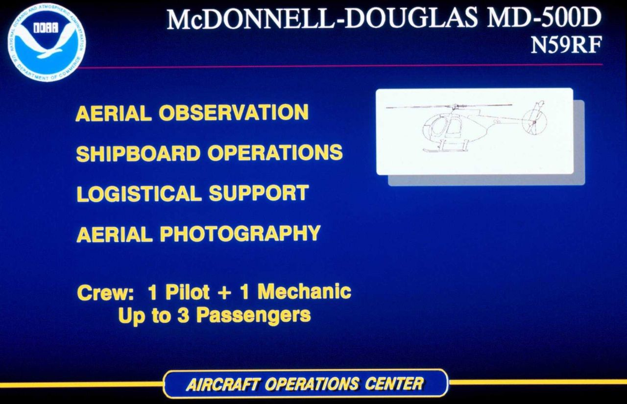 McDonnell-Douglas MD-500D helicopter multi-mission helicopter. Photo