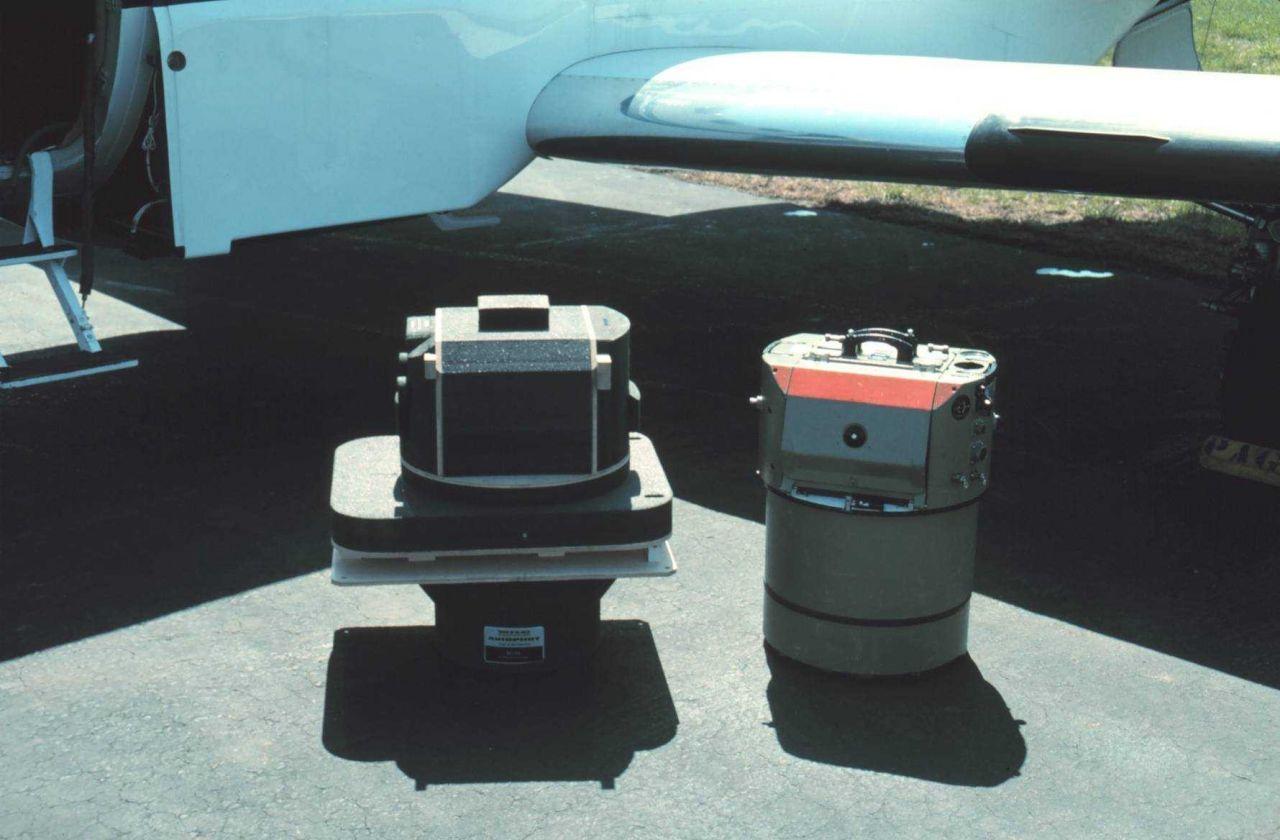 Photo equipment ready for installation on NOAA Cessna Citation II. Photo