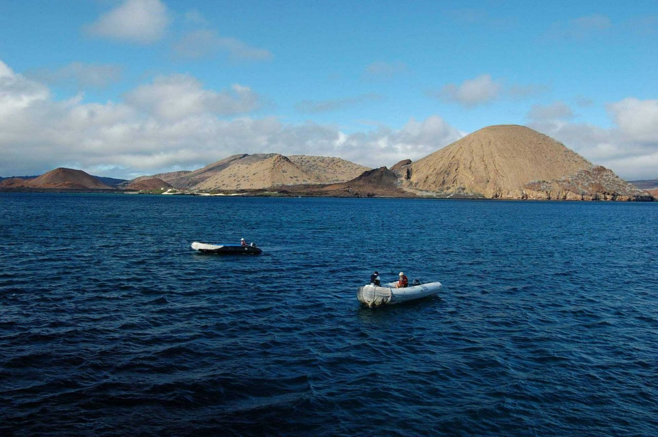 Volcanic cones seen from Sullivan Bay Photo