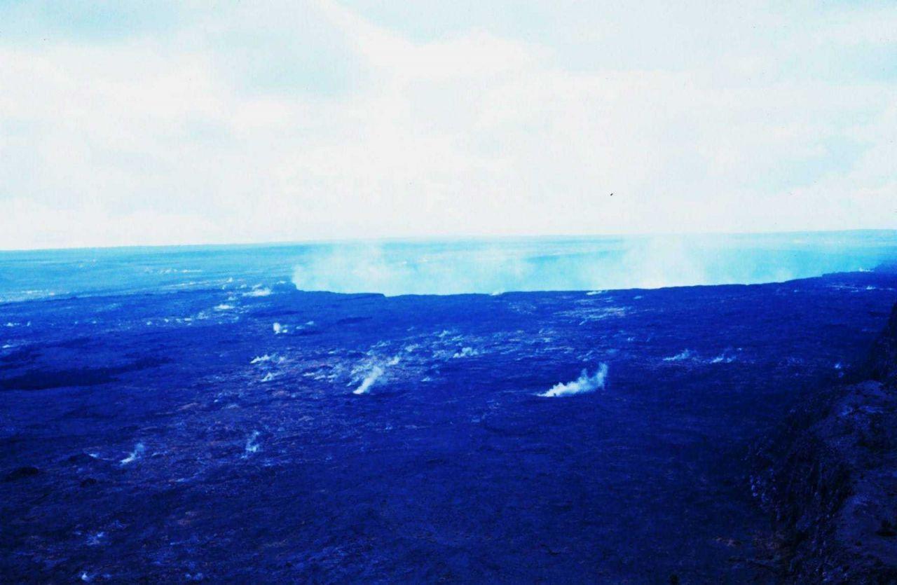Kilauea Crater at Volcanoes National Park Photo