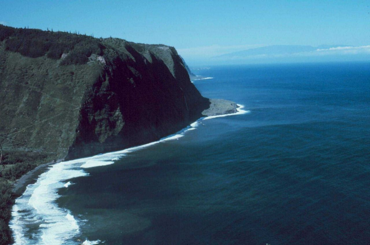 Looking northwest across the Waipio Valley to the Kohala Mountains On the northwest tip of Hawaii Photo
