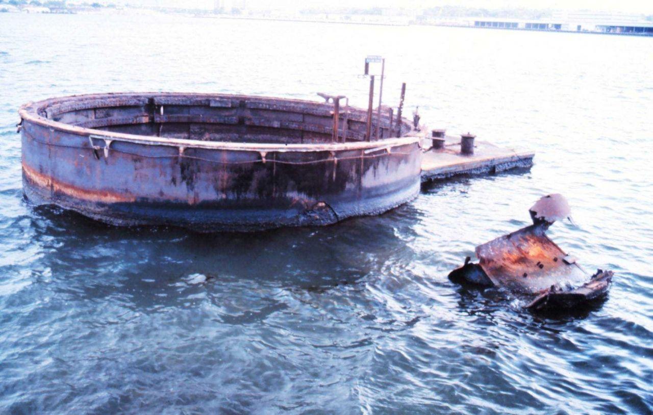 Battleship ARIZONA gun turret at the ARIZONA Memorial Photo