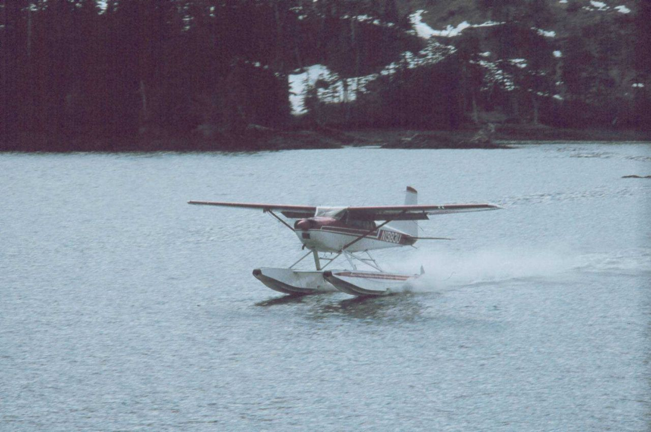Float plane delivering parts for a heater Photo