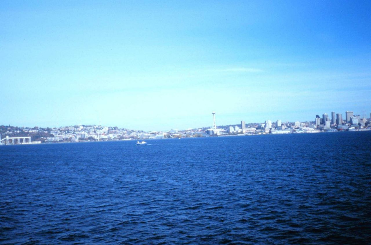The Seattle skyline as seen from the NOAA Ship RONALD H Photo