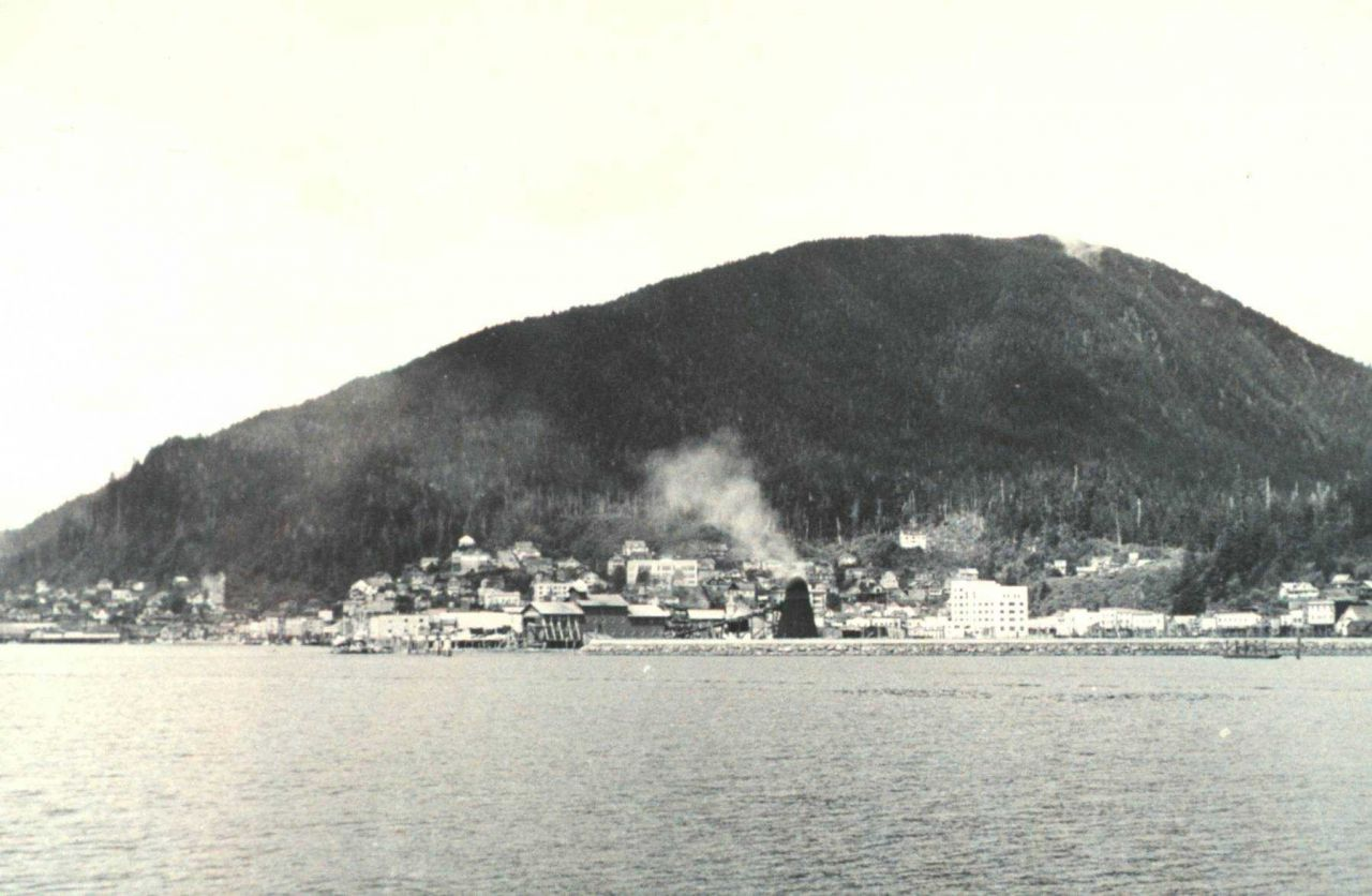 View of Juneau from seaward Photo