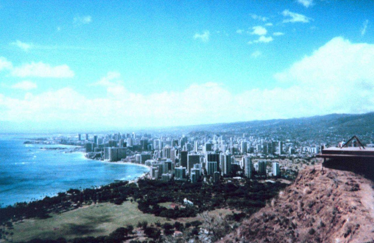 Honolulu as seen from Diamond Head looking west. Photo