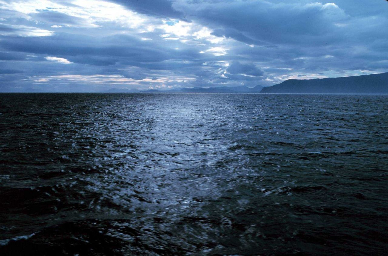 Dramatic cloud formation over the Puale Bay area of the Alaska Peninsula. Photo