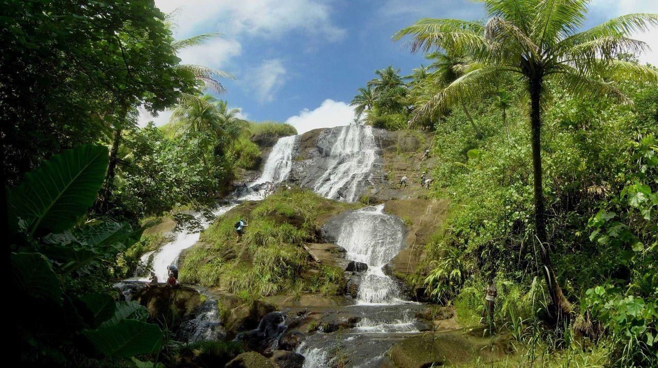 Inajaran Falls in the interior of Guam. Photo