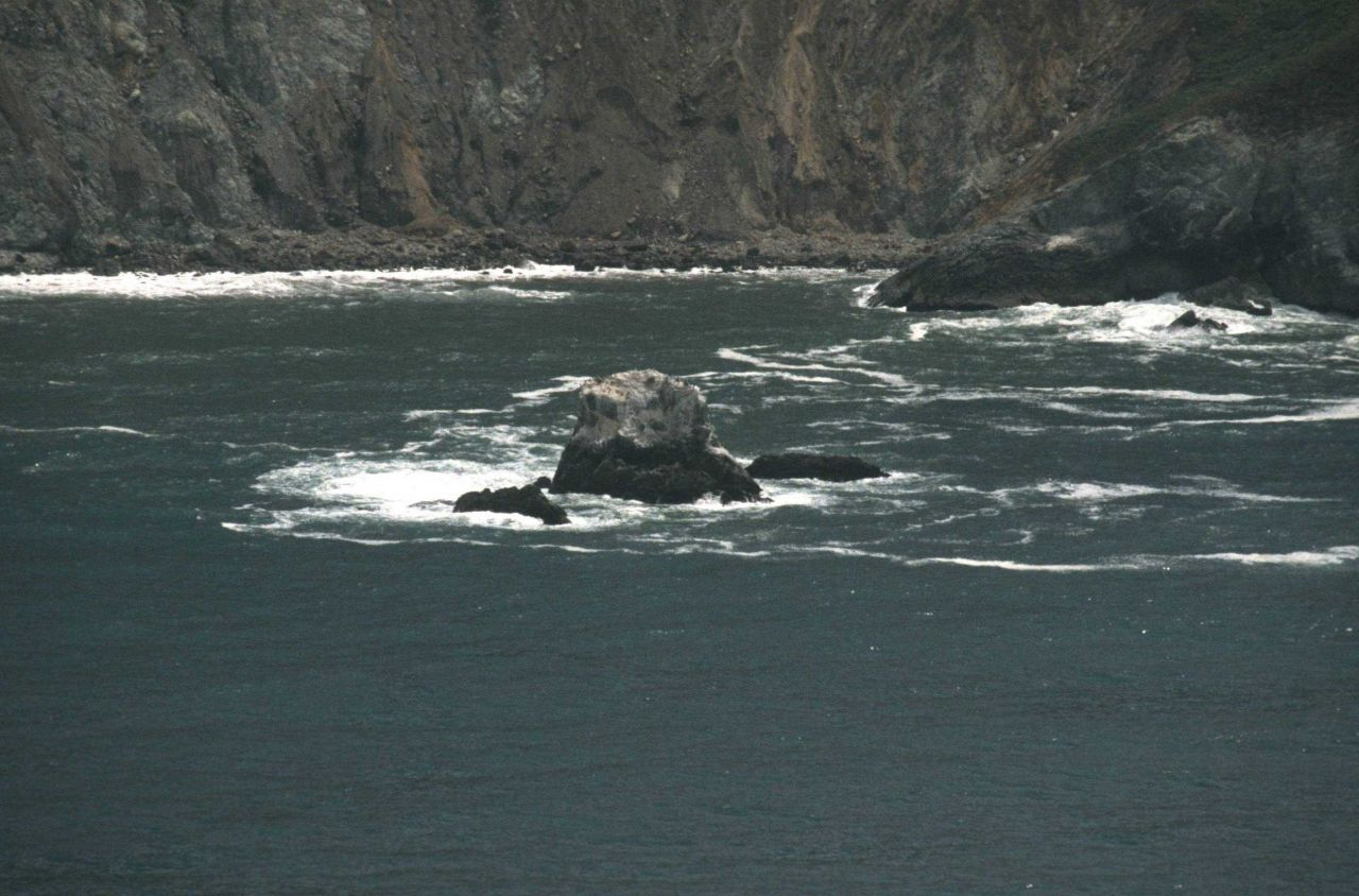 Rock offshore from Devil's Slide Photo