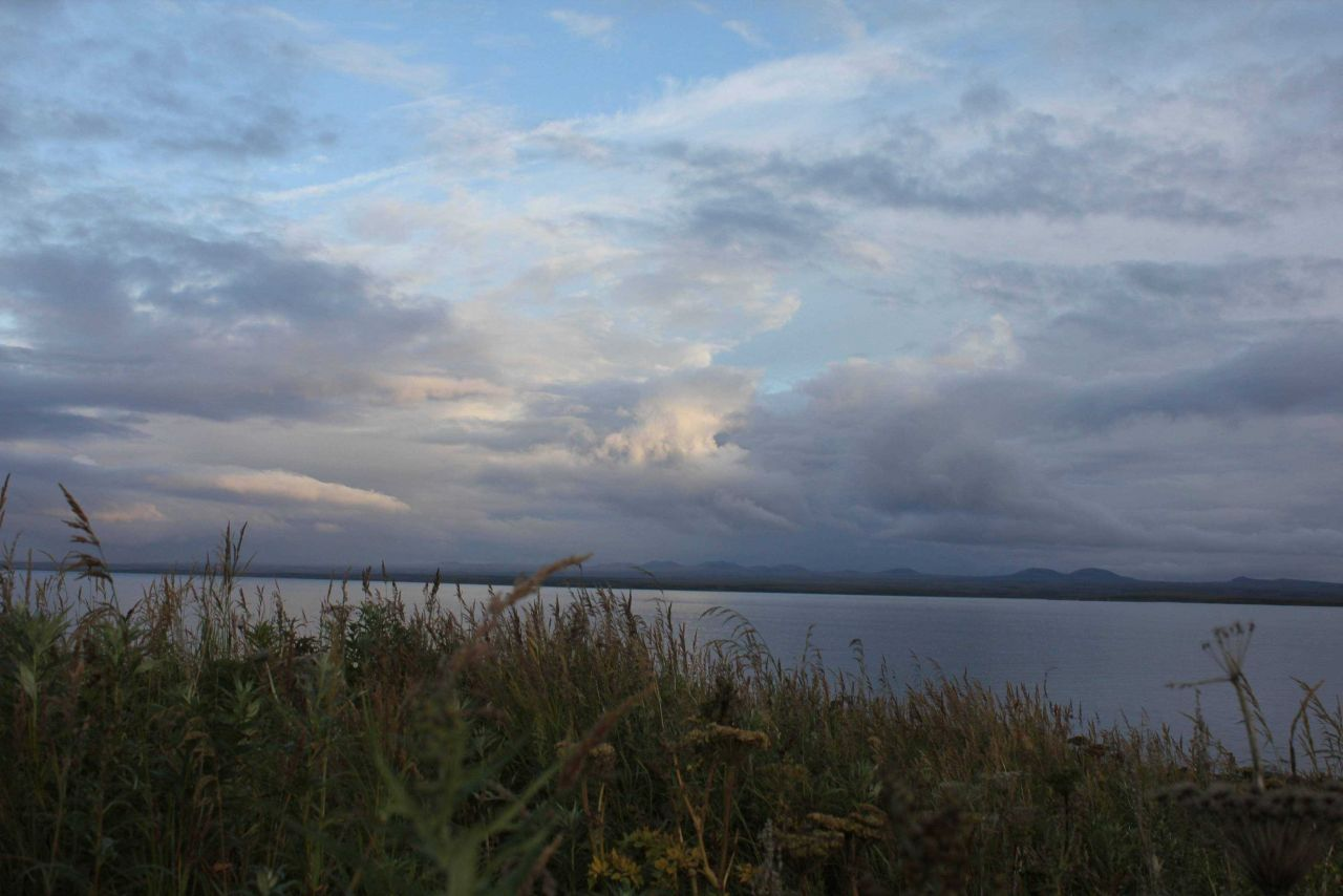 Looking across to the mainland at dusk. Photo