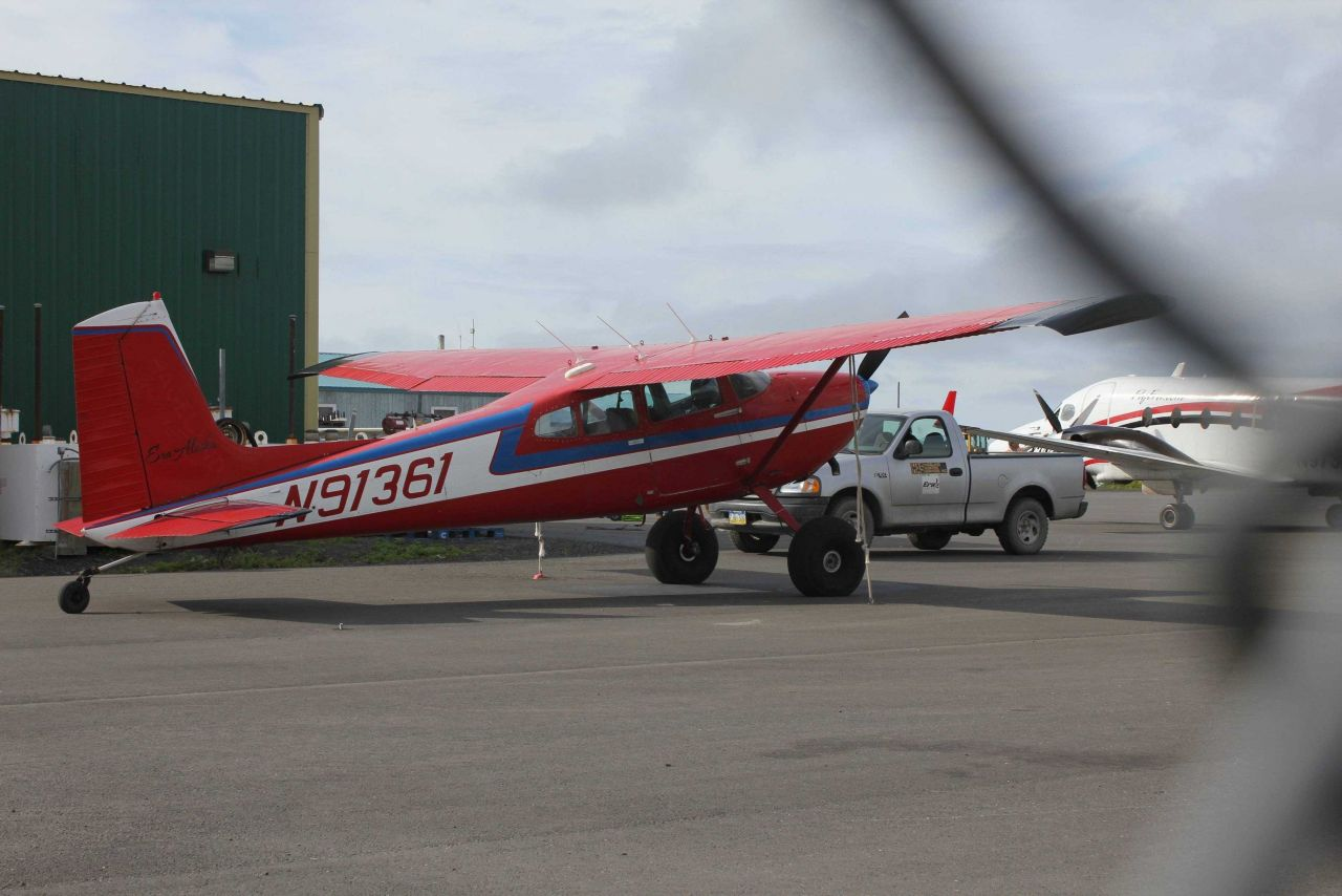 Bush plane with oversize tires at Unalakleet Airport Photo