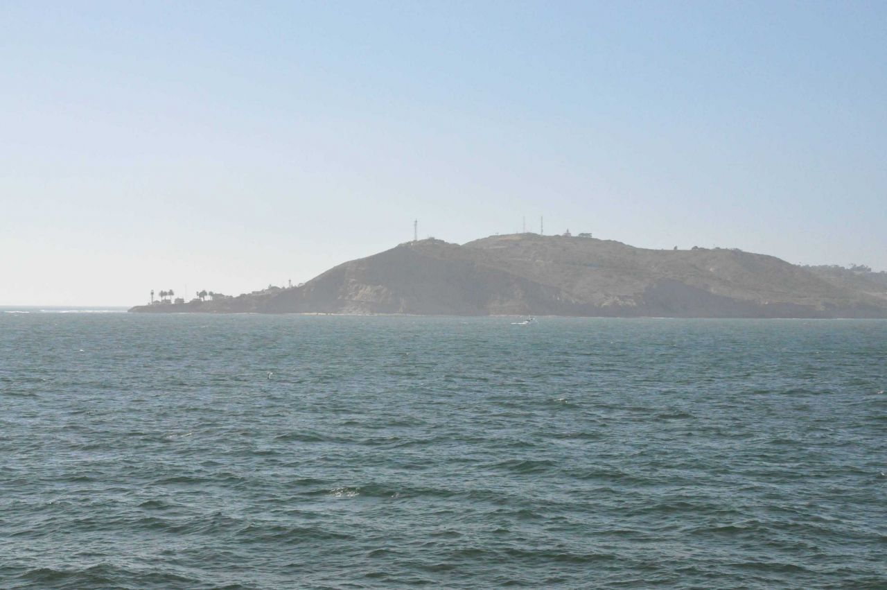Point Loma seen from the NOAA Ship BELL SHIMADA entering San Diego Harbor. Photo