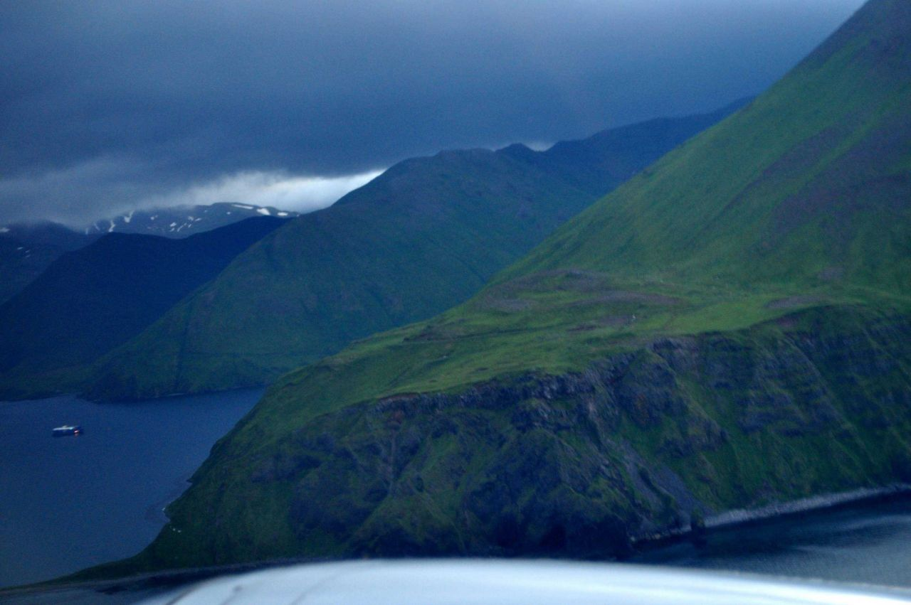 Final approach to Dutch Harbor Photo