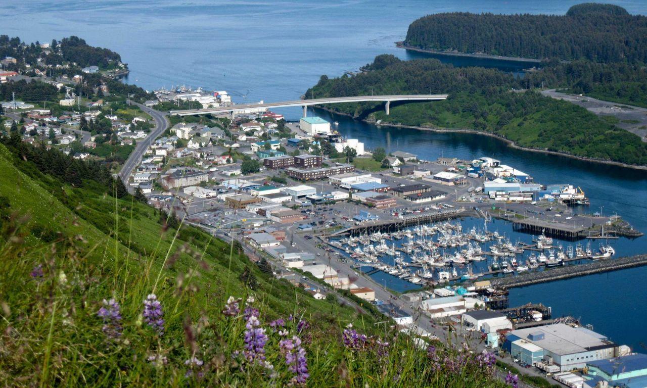View of Kodiak Harbor from Pillar Mountain Photo