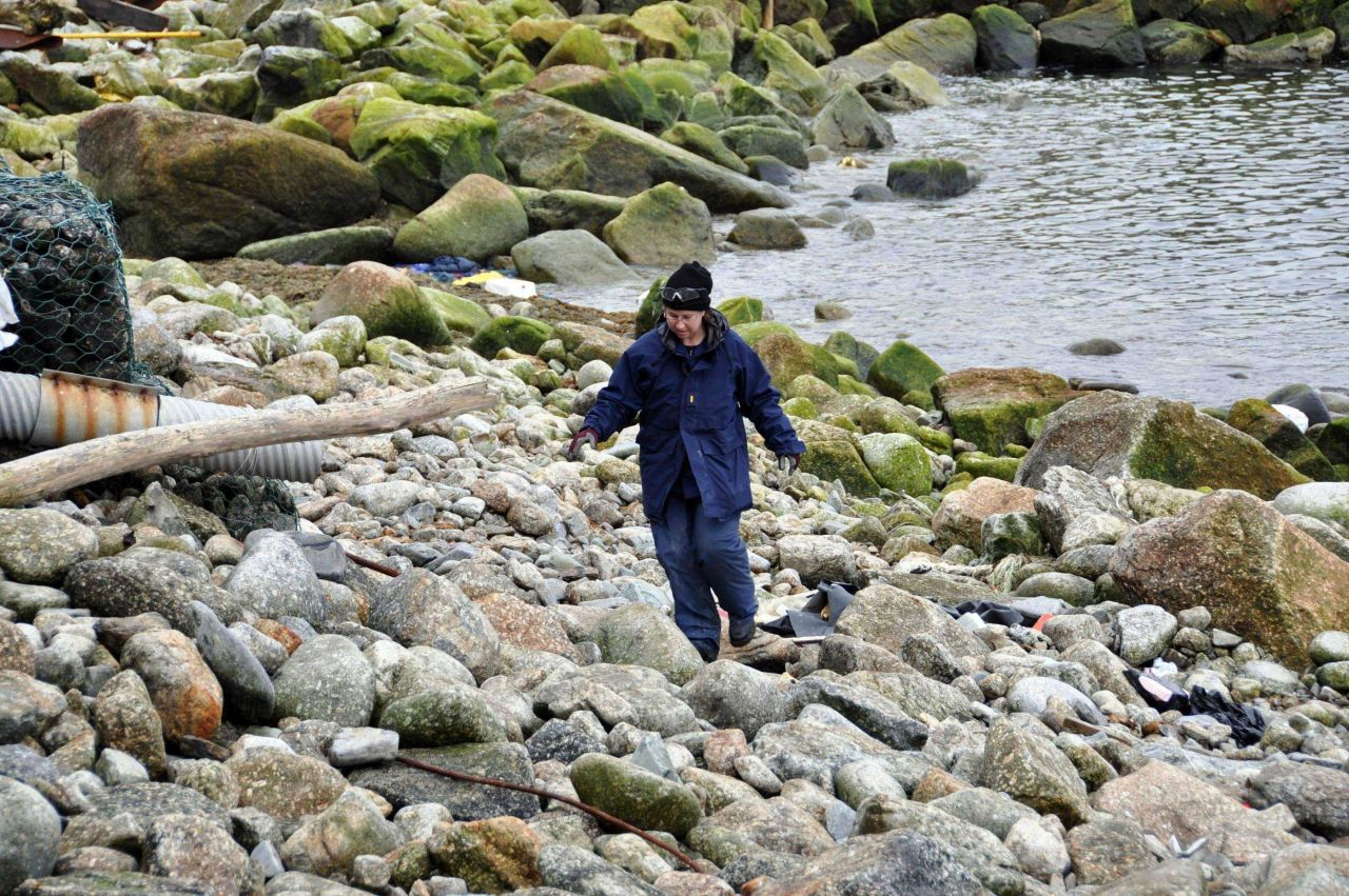 Walking on the rocks - Little Diomede Island, Alaska Photo