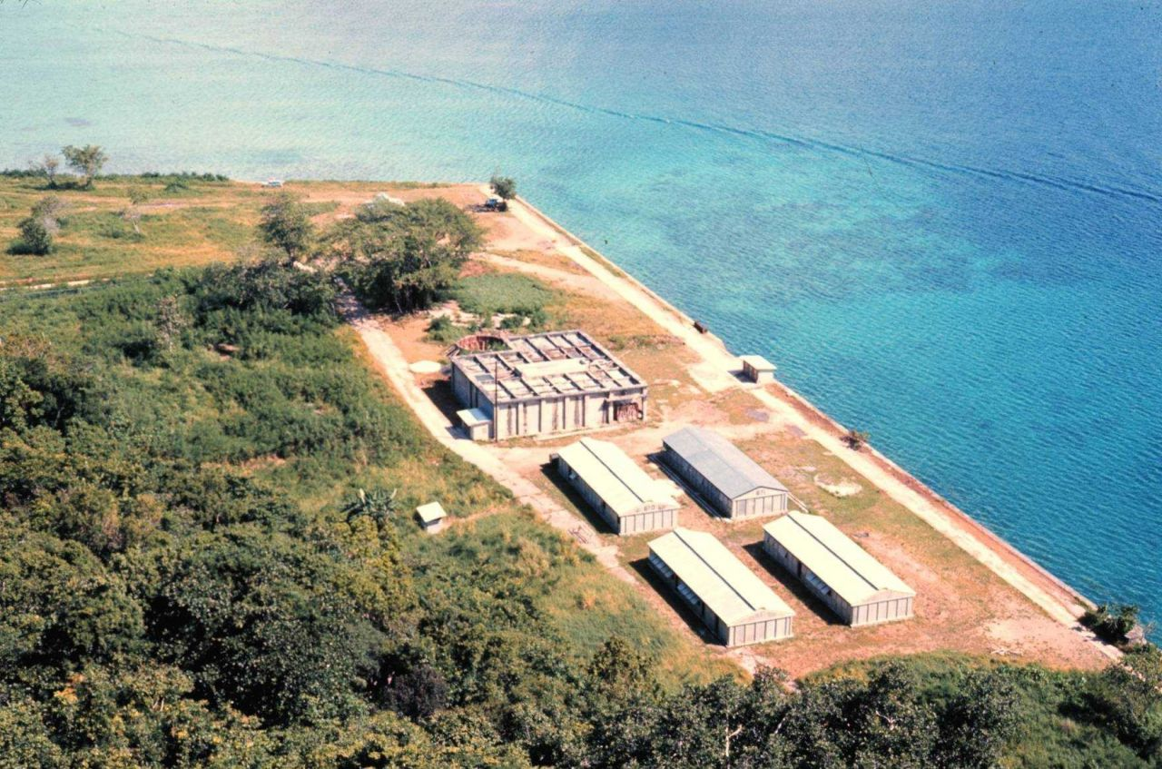 Micronesian mariculture demonstration center before renovation Photo