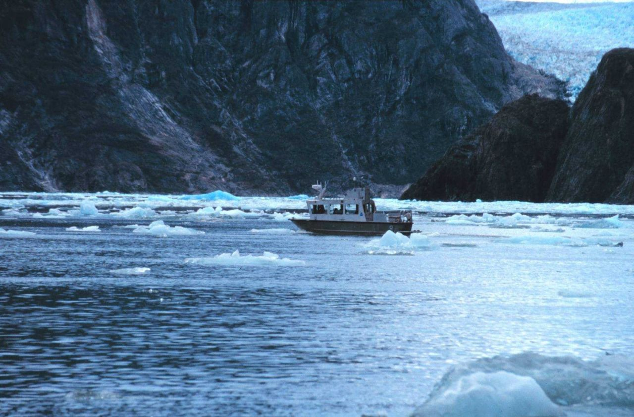RA-2 running a survey line while dodging bergy bits in Tracy Arm Photo