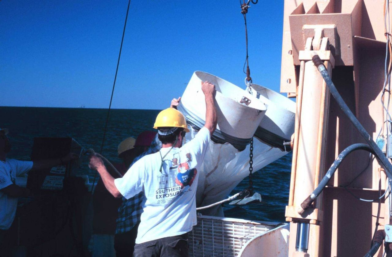 Bongo nets, used to capture plankton, being deployed Photo