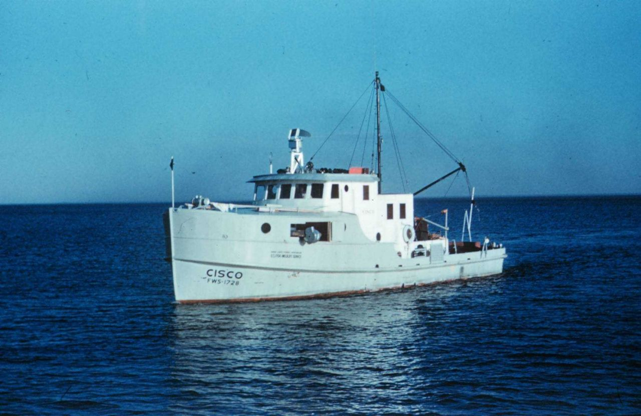 Bureau of Commercial Fisheries Research Vessel CISCO operated on the Great Lakes . Photo
