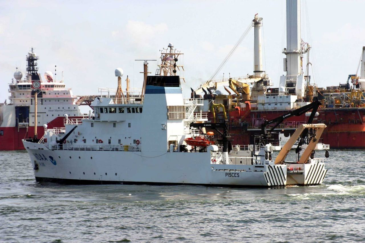 NOAA Ship PISCES on site at the Deep Water Horizon disaster location. Photo