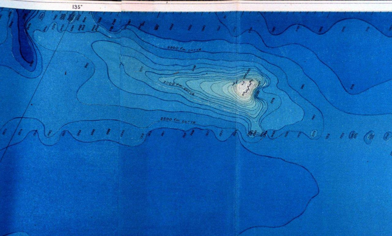 Portion of map in Congressional Report depicting work of Fish Commission Steamer ALBATROSS in conducting deep sea soundings for a telegraphic cable su Photo