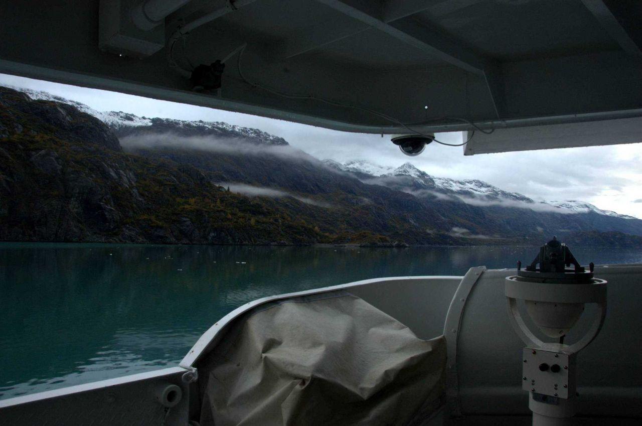 NOAA Ship FAIRWEATHER cruising in Glacier Bay. Photo