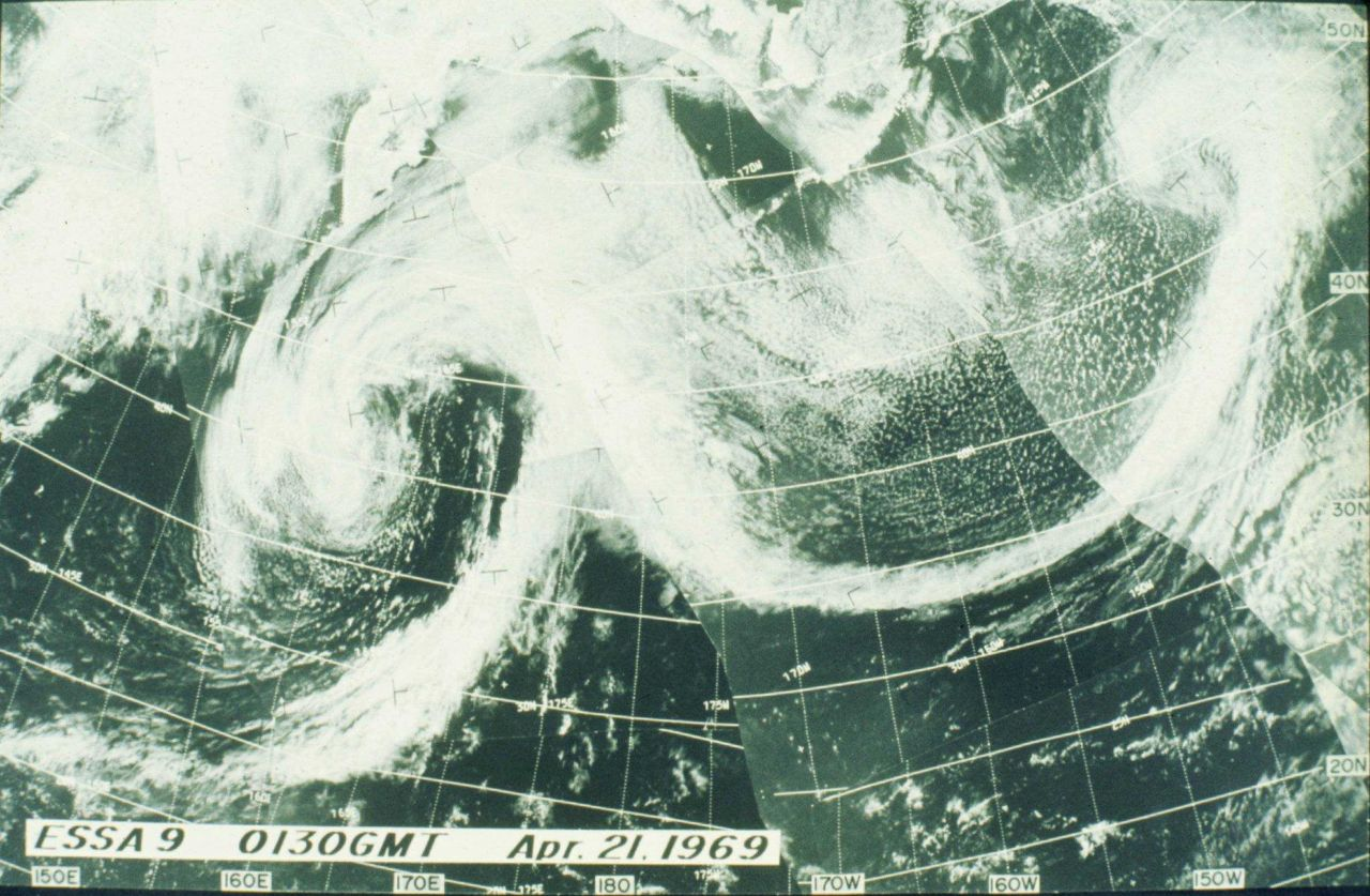 Frontal systems racing across the North Pacific Photo