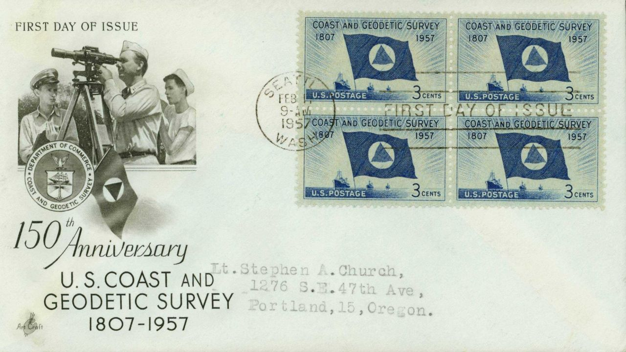First day cover with Coast and Geodetic Survey commemorative stamp Photo