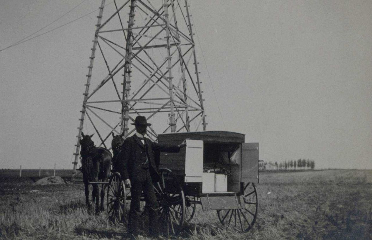 Jasper Bilby at Station Foss 1904 Minnesota Photo