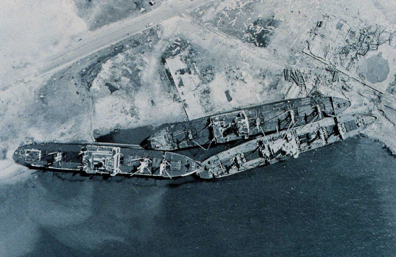 NOAA aerial photography of damage caused by Hurricane Camille Photo