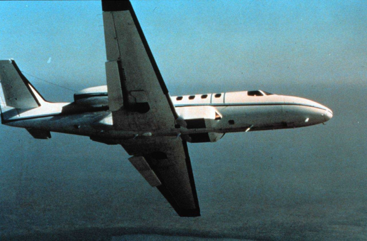 NOAA jet outfitted for photogrammetric missions. Photo