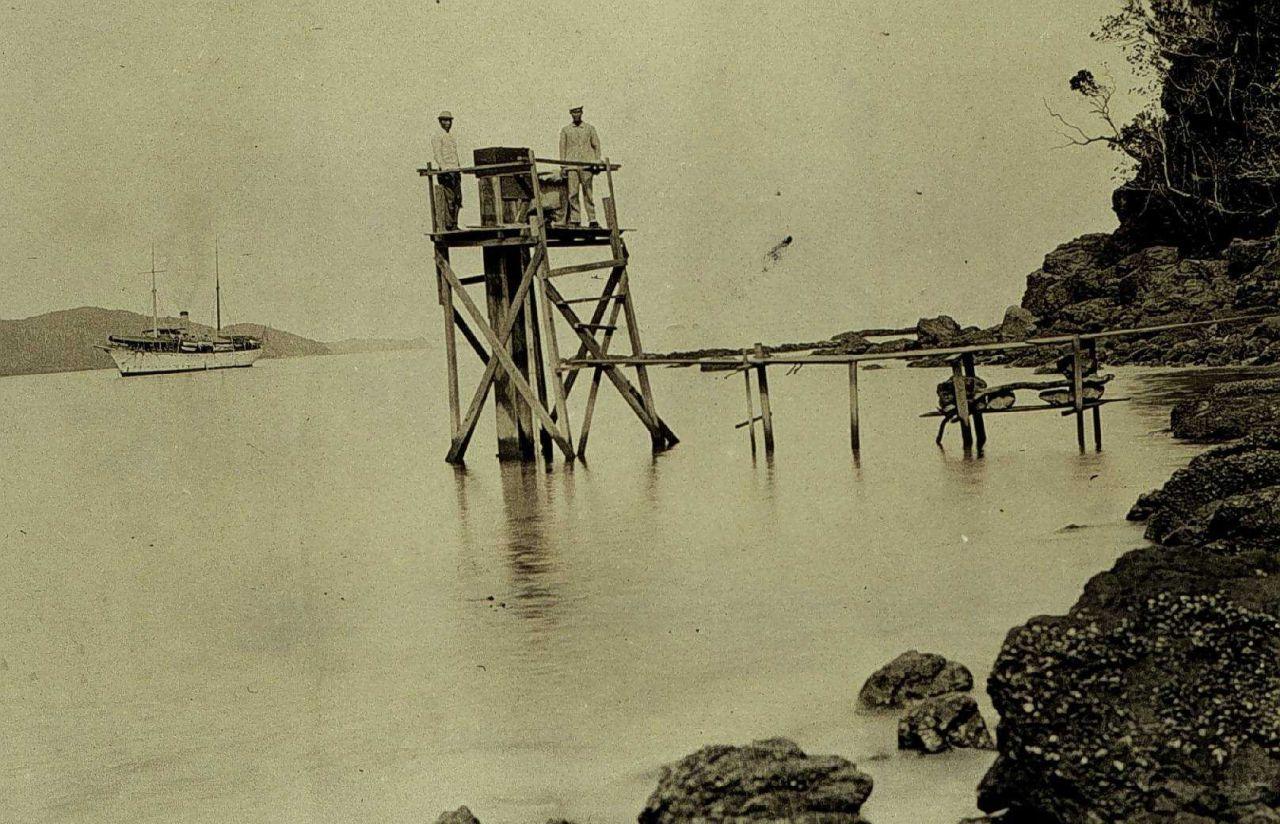 Tugas tide station installation Photo