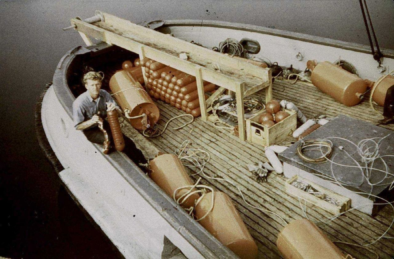 Wiredrag gear on the stern of the LESTER JONES. Photo