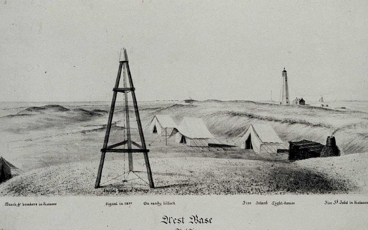 Ferdinand Hassler's camp at the west end of the Great Fire Island Base Line. Photo