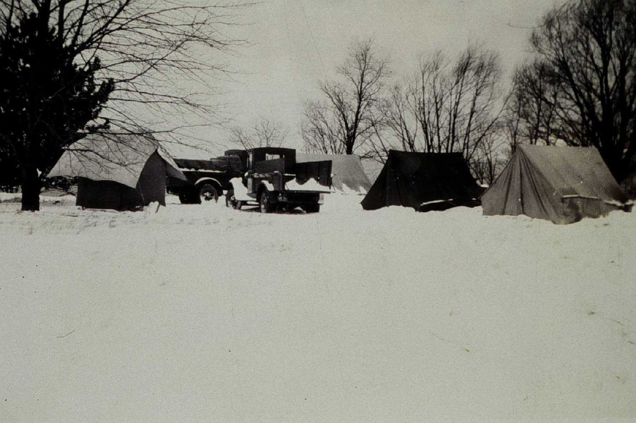 Camp at Station Sturgeon Point at onset of winter Photo